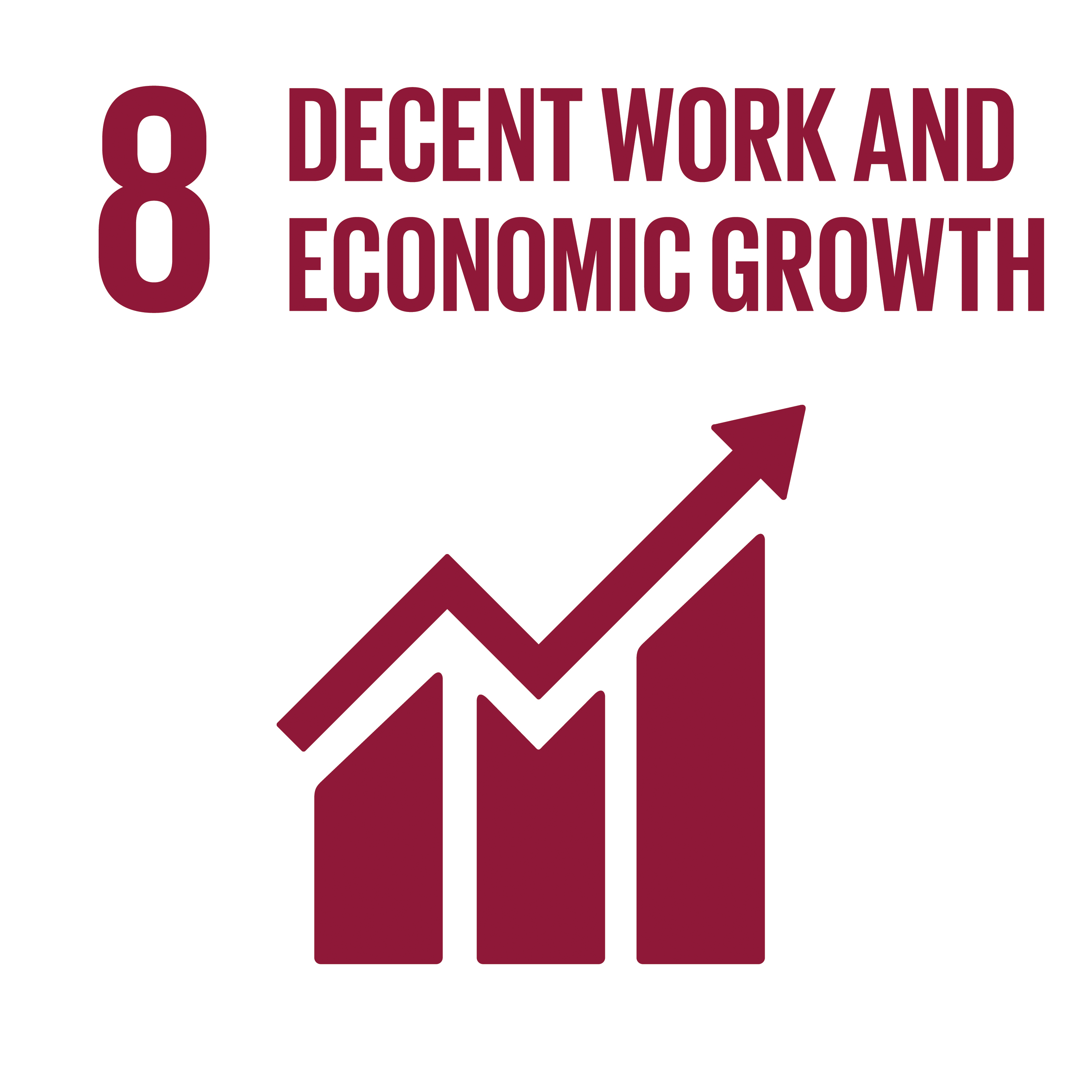 Sustainable Development Goal 8 Icon