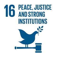 Sustainable Development Goal 16 Icon