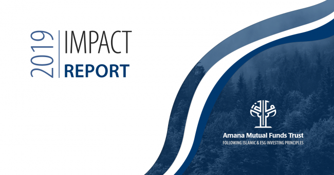 Amana Funds 2019 Impact Report Cover