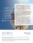 Sextant Mutual Funds Prospectus