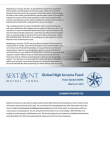 Sextant Global High Income Fund Summary Prospectus